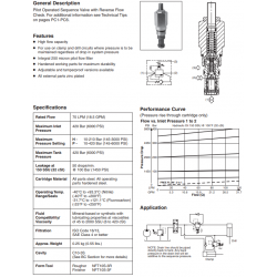 P.O. Sequence Valve With Reverse Check Series B04D3