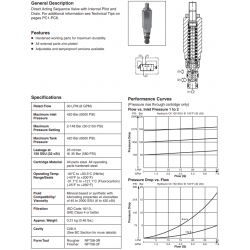 D.A. Sequence Valve (Internal Pilot & Drain) Series B02E3F