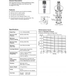 P.O Pressure Reducing/Relieving Valve Series PRH121