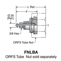 FNLBA ORFS Tube Nut sold separately