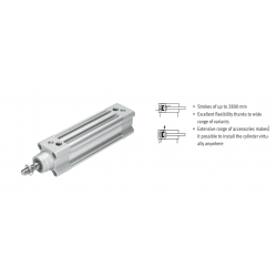Standards-based cylinders DSBC, to ISO 15552, double-acting