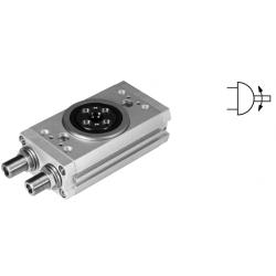 Twin-piston semi-rotary drives DRRD, double-acting