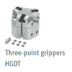 Three-point grippers HGDT