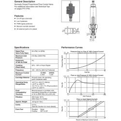 N.C. Proportional Flow Control Valve Series DF122C