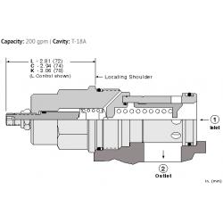 RPKCLAN Pilot operated, balanced piston relief valve