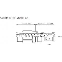 RDDA3AN Non-adjustable direct-acting relief valve