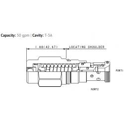 RDFA3AN Non-adjustable direct-acting relief valve