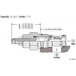 RPGELAN Fast-acting, pilot operated, balanced piston relief valve