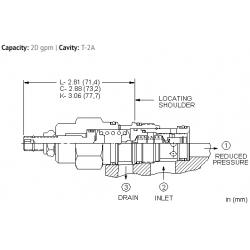 PBFBLAN Pilot operated, pressure reducing valve