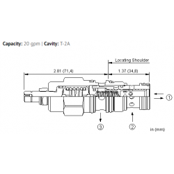 PPFFLAN Pilot operated, pressure reducing/relieving valve with drilled piston orifice