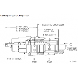 PPJFLAN Pilot operated, pressure reducing/relieving valve with drilled piston orifice