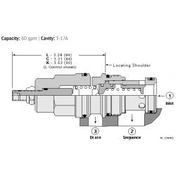 RSHCLAN Pilot operated, balanced piston sequence valve