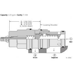 RSJCLAN Pilot operated, balanced piston sequence valve