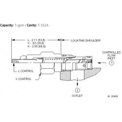 FXBAXAN Fixed orifice, pressure compensated flow control valve