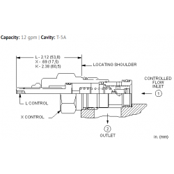 FXDAXAN Fixed orifice, pressure compensated flow control valve