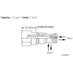 FQBAXAN Fixed orifice, flow fuse valve