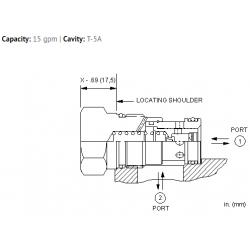 FQEAXAN Fixed orifice, flow fuse valve