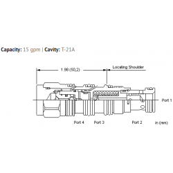 LRDSXHN Normally closed modulating element with shuttle