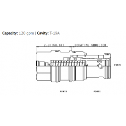 LPJA8DN Normally open, modulating element with integral T-8A control cavity and pilot source from port 1