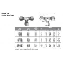 Union Tee For fractional tube