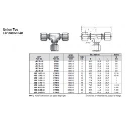 Union Tee For metric tube
