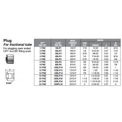 Plug For fractional tube