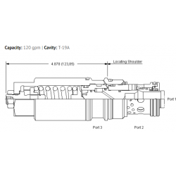 MBIALHN 3:1 pilot ratio, load reactive load control valve