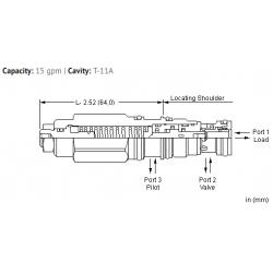 MBDGLHN 4.5:1 pilot ratio, load reactive load control valve