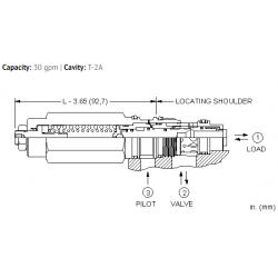 MBEGLHN 4.5:1 pilot ratio, load reactive, load control valve