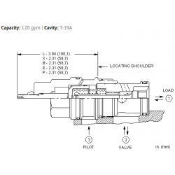 CKIBXCN Pilot-to-open check valve with standard pilot