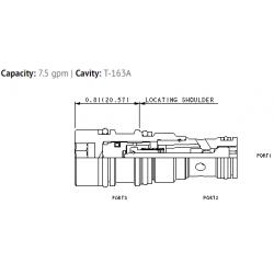 CKBGXCN Flush mount pilot-to-open check valve with sealed pilot