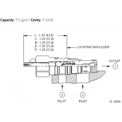 CKBDXCN Pilot-to-open check valve with sealed pilot