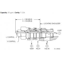 CVEVXCN Vented pilot-to-open check valve