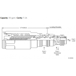 MAEPDHN Atmospherically referenced, LoadMatch™ counterbalance valve