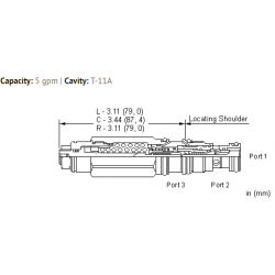 CEBALHN 3:1 pilot ratio, restrictive, LoadAdaptive™ counterbalance valve