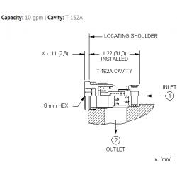 CXBGXAN Flush mount, free flow nose to side check valve