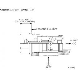 CXIDXCN Free flow side to nose check valve