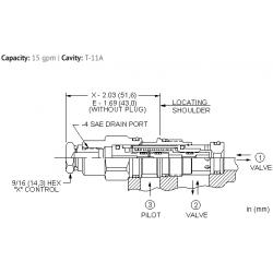 DODCEHN Normally open, balanced poppet, logic element - pilot-to-close