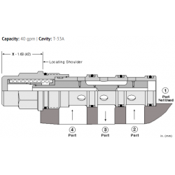 DSGHXHN Low side, 3-position, hot oil shuttle valve
