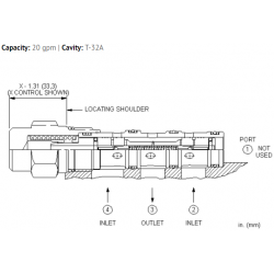 DSDDXEN Low side, 3-position, hot oil shuttle valve with delayed shift