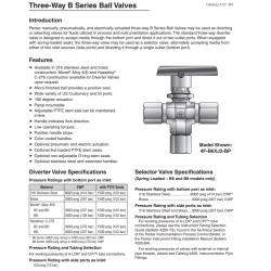 Three-Way B Series Ball Valves