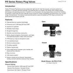 PR Series Rotary Plug Valves