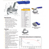 Hi-Pro Ball valve construction and P/T graph