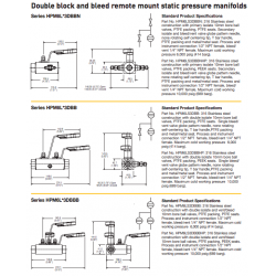 Hi-Pro double block and bleed manifolds