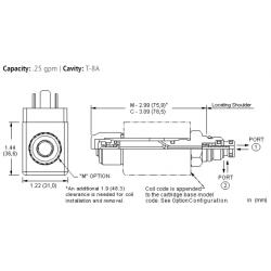 DAAAMCN 2-way, solenoid-operated directional spool valve - pilot capacity